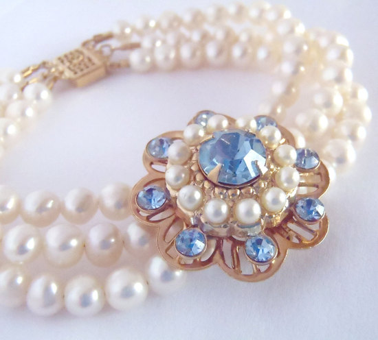 bridal style wedding ideas something blue etsy vintage bracelet