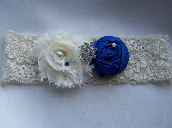 photo of Silk and chiffon bridal garter