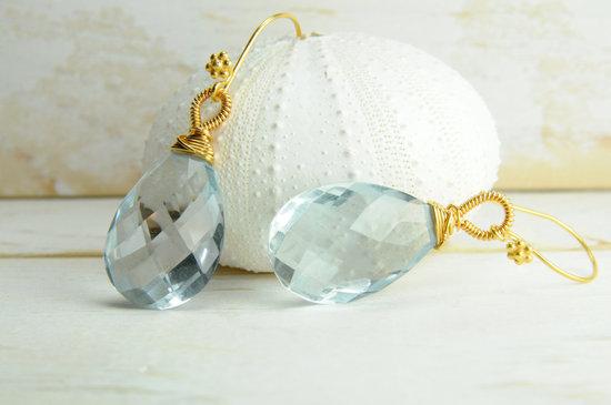 photo of Aqua Marine bridal earrings