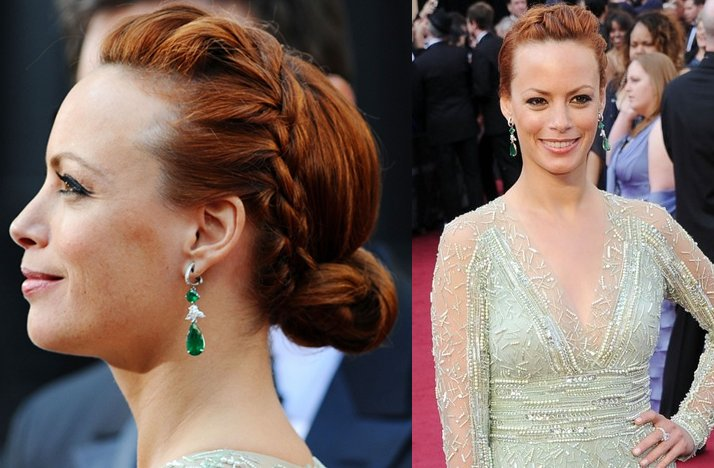 2012 oscars red carpet wedding hair makeup inspiration bernice bejo