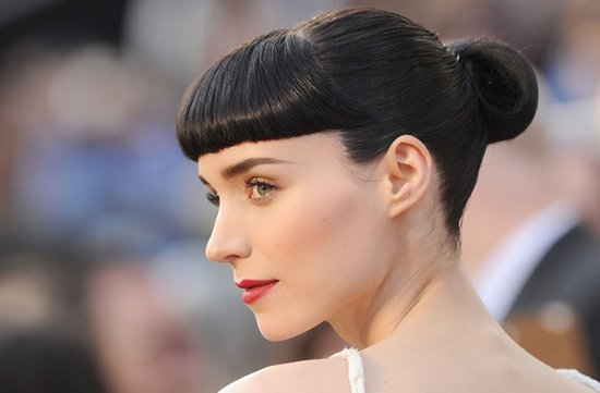 2012 oscars red carpet wedding hair makeup inspiration rooney mara