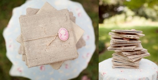 burlap wedding invitations for rustic weddings