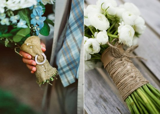 photo of Burlap Decor for Your Rustic Chic Wedding