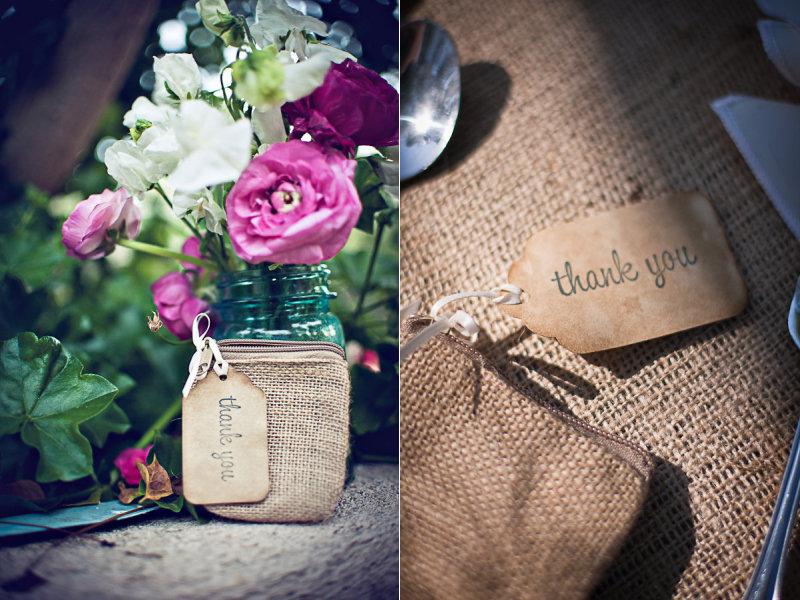 Rustic chic wedding ideas burlap decor details wedding for Decorating ideas using burlap