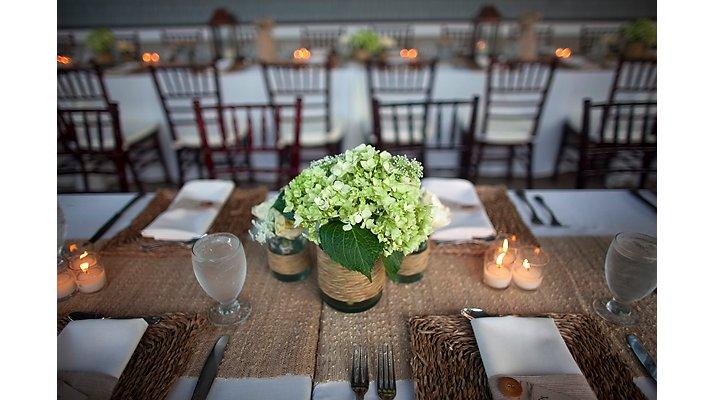 Rustic Chic Wedding Ideas Burlap Decor Details Reception Tablescape Centerpieces