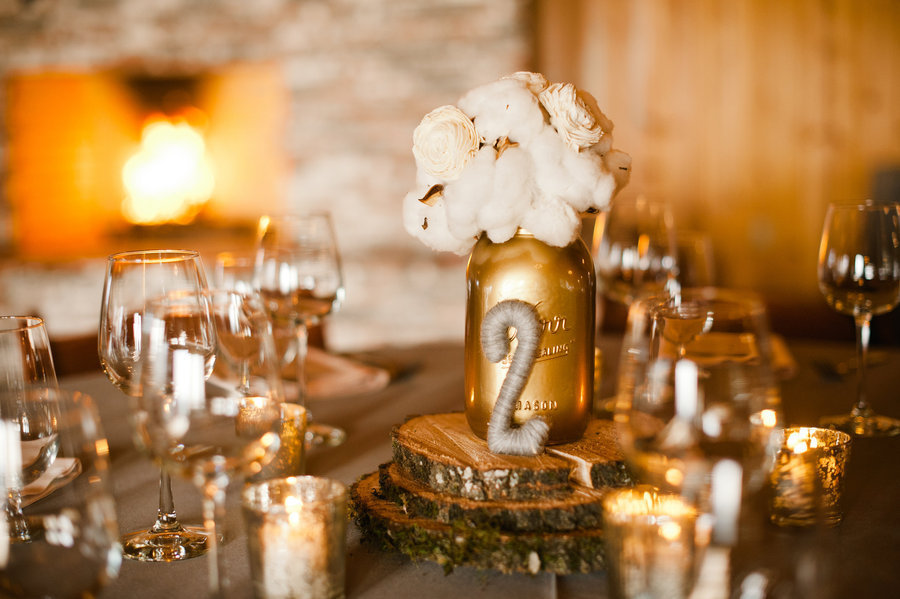 Stunning Wedding Reception Tablescapes With Gold Ivory