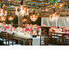 Hot-pink-wedding-reception-table-outdoor-chandeliers.square