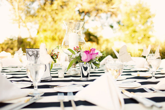 stunning wedding reception tablescapes black white pink modern