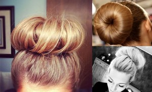 photo of Easy Breezy DIY Wedding Hairstyle: Sock Bun