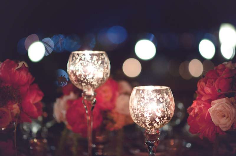 beach wedding bright wedding color palette pink reception candle light