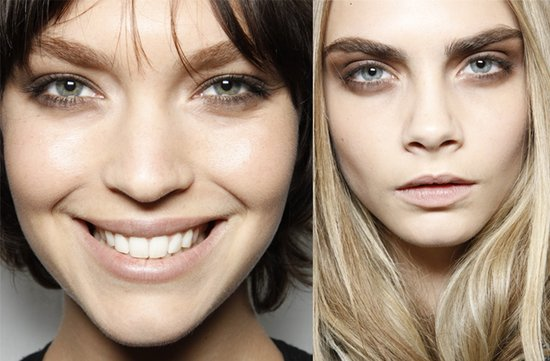 burberry wedding hair makeup inspiration fall 2012 RTW