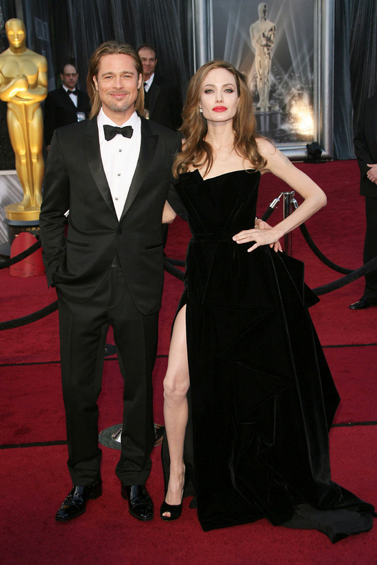 Brad Pitt and Angelina Jolie Oscars 2012