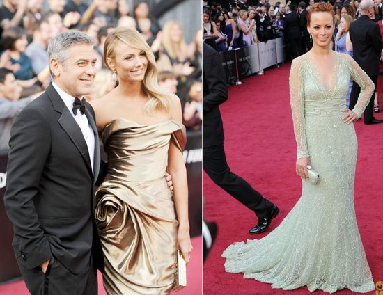 george clooney stacy keibler 2012 oscars wedding dress ideas