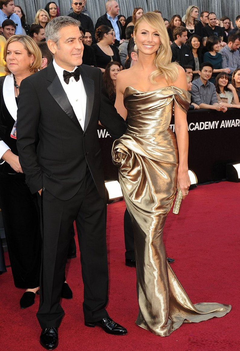 best of 2012 oscars red carpet wedding dress inspiration george clooney