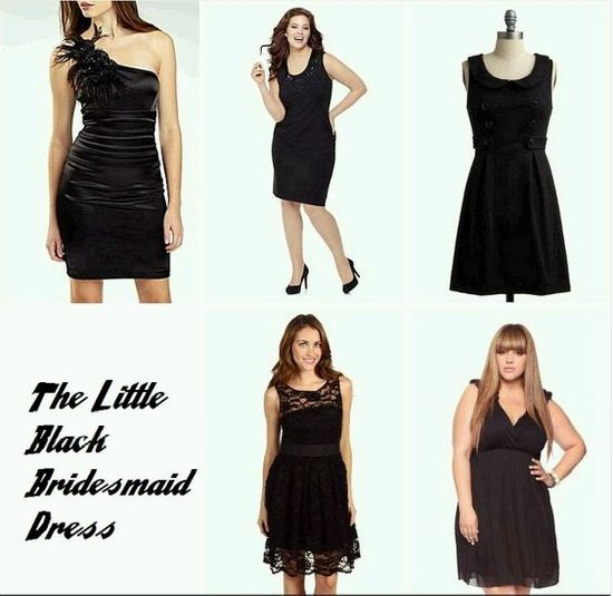 photo of the little black bridesmaid dress 3