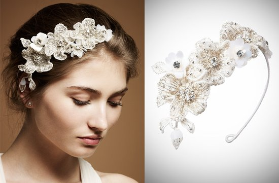 floral embellished headband by jenny packham