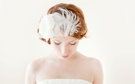 photo of My Sunshine bridal fascinator with flower by Sibo Designs