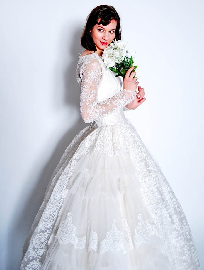 All-white-wedding-dress-ballgown-lace-sleeves.full