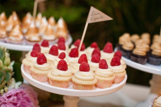 unique wedding reception ideas beyond wedding cake mini cupcakes rasberry adorned