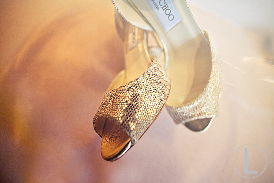 gold wedding shoes jimmy choo peep toes