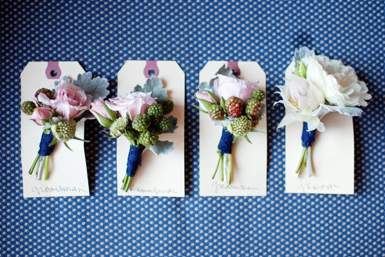 grooms boutonnieres romantic wedding flowers