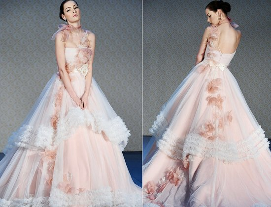 2012 wedding dress trends pink wedding dress saison blanche