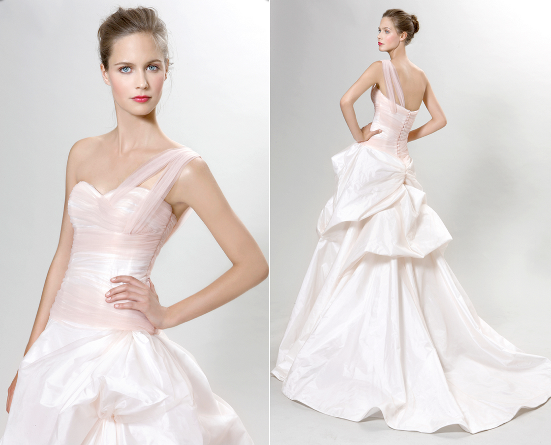 2012 Wedding Dress Trends Pink Bridal Gowns Peter Langner