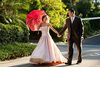 Bride-wears-pink-wedding-dress-strapless-ballgown.square