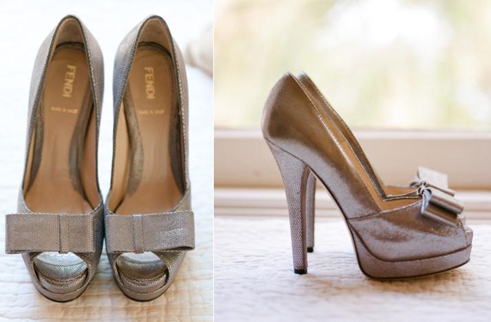 Silver Sparkle Wedding Shoes Fendi
