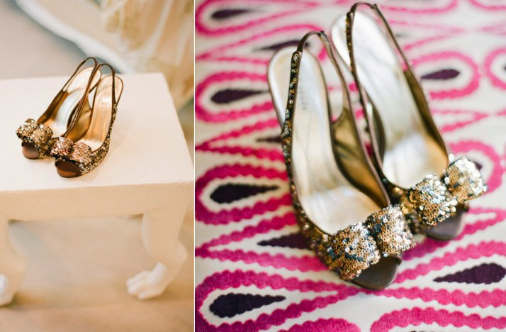 gold sparkle wedding shoes peeptoe