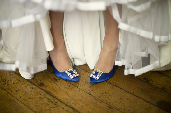 blue wedding shoes manolos