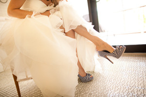 photo of Strut Your Stuff in Bold Wedding Shoes