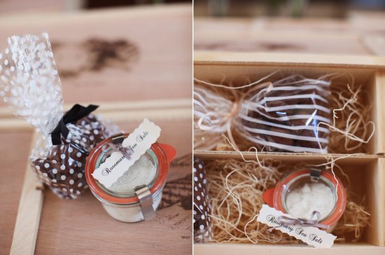 wedding guest favors spa theme