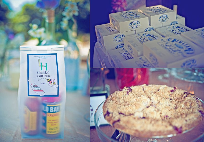 local treats for wedding guest favors outdoor eco wedding