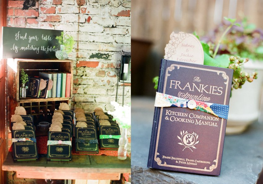 vintage inspired wedding guest favors for brides grooms who love food