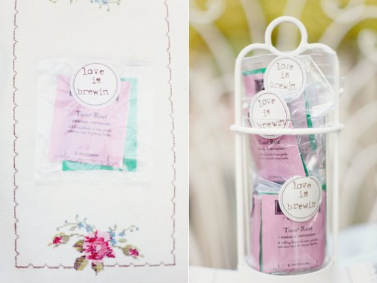 unique wedding guest favors herbal tea