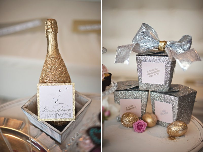 guest favors mini champagne for wine loving brides grooms
