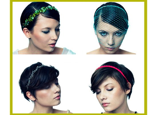 photo of Bright Wedding Hair Pieces by Jennifer Behr