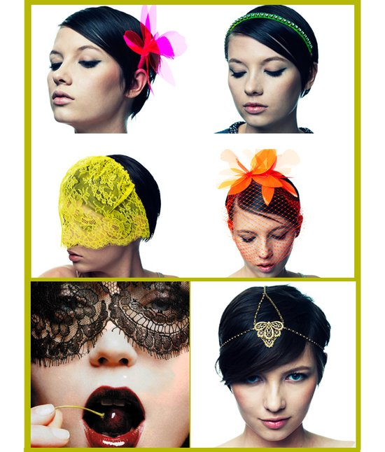modern wedding hair accessories hot vibrant wedding colors