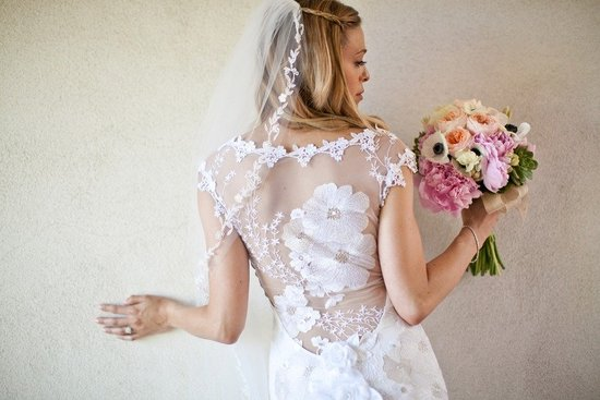 photo of 2012 wedding dresses with sheer and open backs