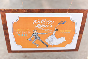 photo of custom wedding sign vintage inspired