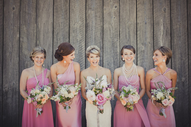 Romantic-bridal-style-mix-match-bridesmaids-in-pink.full
