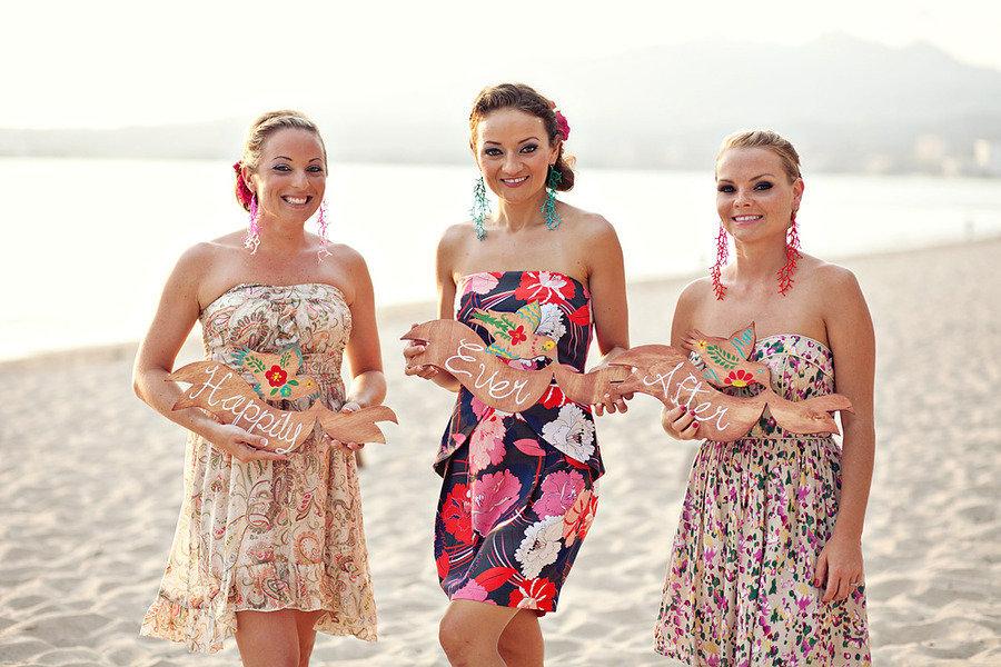 Destination-wedding-bridesmaids-wearing-printed-dress-beach-wedding.full