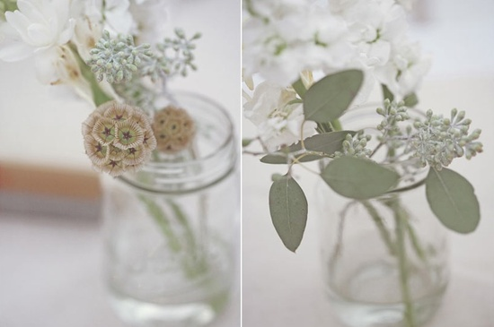 romantic eco chic wedding reception centerpieces simple