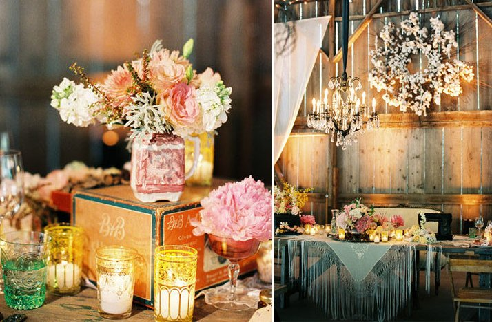 Rustic-vintage-wedding-mix-match-mason-jars-wedding-flower-centerpieces.full