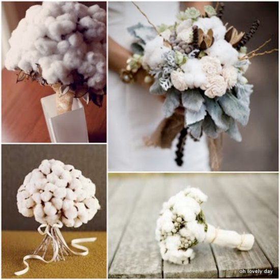 cotton wedding flowers bridal bouquets