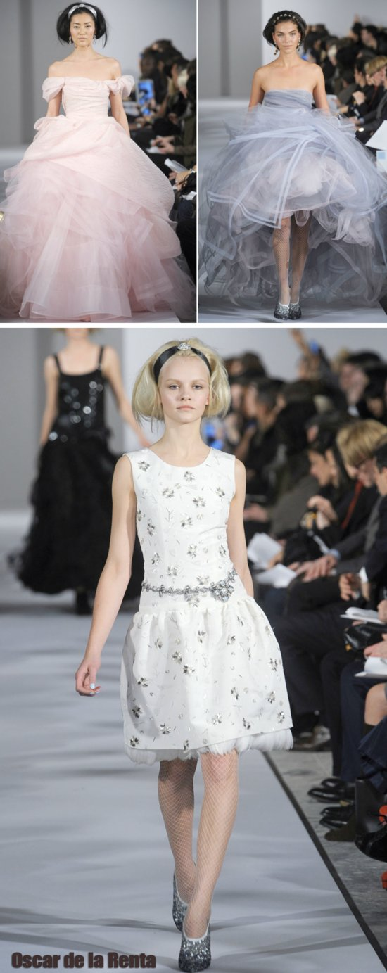 Fall 2012 RTW wedding dresses by Oscar de la Renta