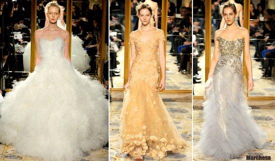 photo of 2012 wedding dress inspiration marchesa ballgowns mermaids