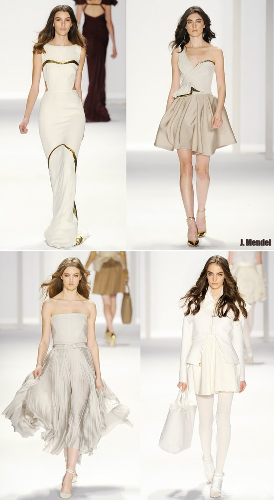 wedding dress inspiration fall 2012 j mendel gowns little white dresses