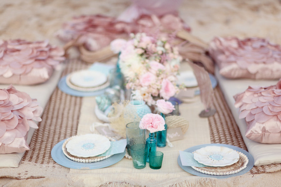 Soft And Romantic Light Pink And Blue Wedding- B. Lovely ... |Light Pink And Blue Wedding